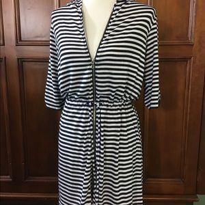 Willi Smith striped full zip hoodie, size Med